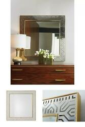 Luxurious Metal Framed Accent Mirror 40 Square Beveled Wall Mount Home Decor