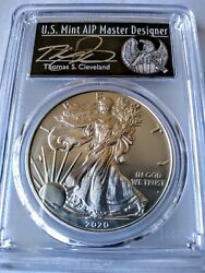 2020-p 1 Silver Eagle Emergency Issue Pcgs Ms70 Fs Cleveland Black Freedom