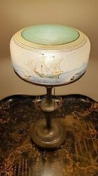 Antique Pairpoint Table Lamp With Nautical Scene