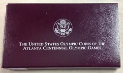 1995 Us Mint 1 Olympic Blind Runner/gymnastic Commemorative 2-coin Set - Proof