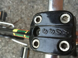 Ross Quill Stem Bmx Bicycle Rounded Corners 4 Bolt Vintage Black
