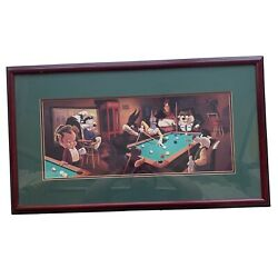 Looney Tunes Pool Hall Warner Bros Studio Store Exclusive Lithograph Framed