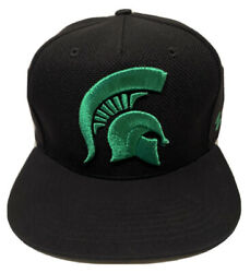 Zephyr Ncaa Michigan State Spartans Flash 5 Panel Flat Bill Strap-back Hat Nwt