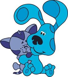 Removable Kids Bedroom Nursery Blue#x27;s Clues Decor Blue amp; Perwinkle Wall Decal