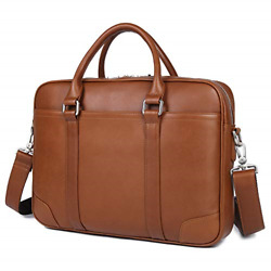 Leather Laptop BagSlim Briefcase Business Messenger Tote Bag for Men Daily 15.6 $135.04