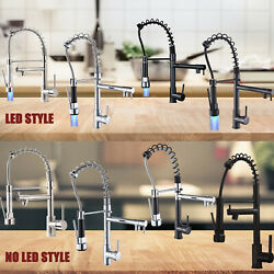 Kitchen Spring Faucet Swivel Sink Bar Pull Down Sprayer Single Hole Mixer Tap