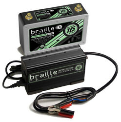 Braille Auto Battery Lithium Ion Super 16 Volt Battery W/charger B169lc