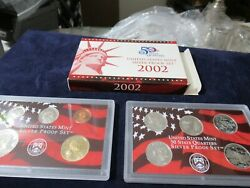 2002 Us Mint Silver Proof Set + 5 Silver State Quarters Silver Investment