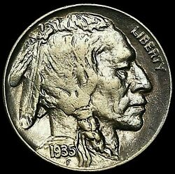 1935 Buffalo Nickel Fs-801 Double Die Reverse Rare This Nice In Au Bn104
