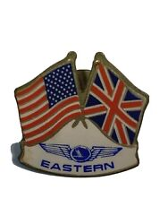 Vintage Eastern Airlines U.s And British Flags Lapel Pin