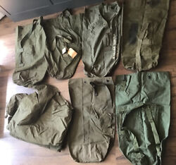 5 Wwii Korea Vietnam Us Army Military Duffle Bags Backpack And 1952 Tent Shelter