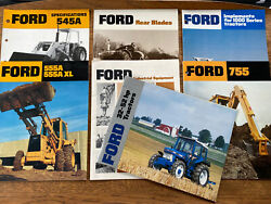 Lot Of 7 Vintage Ford Brochures Tractors Implements Diggers Farm Industrial