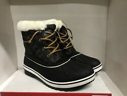 Globalwin Winter Fur Lined Snow Boots Black Women#x27;s Size 10 $39.99