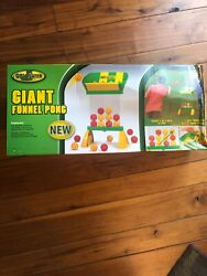 Go Gater Giant Funnel Pong Indoor Or Outdoor Game For Kids And Adults Box Damage