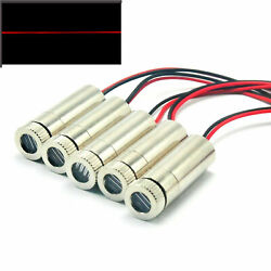 5pcs Focusable 650nm 30mw 12x35mm Line Red Laser Diode Module W/ Driver In