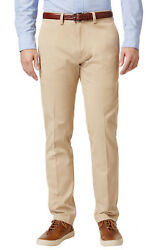 135 New Big And Tall Mens Lacoste Croc Logo Cotton Flat Front Khaki Chinos Pants