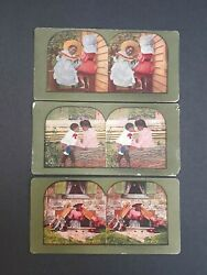 Antique Color Stereoview Cards Black Americana 1898 T W Ingersoll Lot Of 3