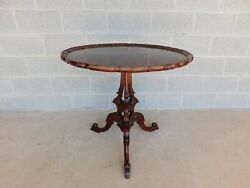 Hickory Chair Mount Vernon Collection Pie Crust Table 32w