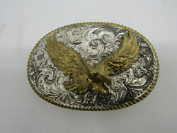 OLD SMALL BALD EAGLE BIRD OPEN WINGS BELT BUCKLE CLOTHING