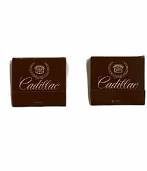 Lot Of 2 Vintage Cadillac Matchbooks - New Old Stock - Unstruck Matches Complete