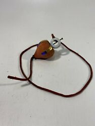 Rare Vintage Wood Spinning Top Toy W/ String