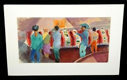 And03950s Nevada Wc Painting Casino And Slots By Robert Lee Eskridge 1891-1975beg