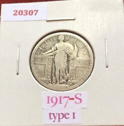 1917 S Type 1 Standing Liberty Silver Quarter And 1915 Buffalo Nickel Free S