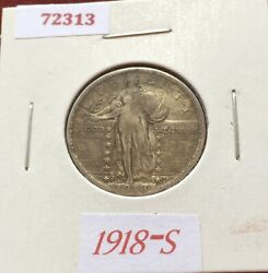 1918 S Standing Liberty Silver Quarter And A Full Horn Buffalo Nickel Free S