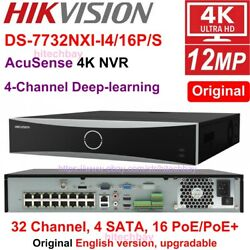 Hikvision Ds-7732nxi-i4/16p/s 32ch 16poe 4sata Plugandplay 4k Nvr 4-ch Deep-learn