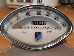 Veglia Speedometer And Cable For Vespa Scooter.