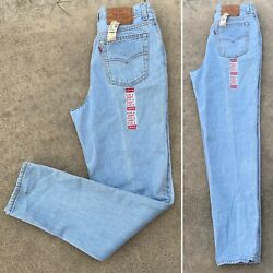 """Vintage Levi's Button Fly 501 Jeans High Waist Tapered Leg 9 S 28"""" Waist 80s 90s"""