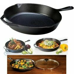 Cast Iron Skillet 12andrdquo Lodge Pre Seasoned Frying Pan Cookware Cooking Field Grill