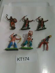 Kt174 Vintage Britains Deetail Native American Indian Lot Indians