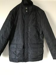 John Lewis Mens Navy Quilted Jacket Size M