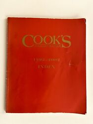 Cookand039s Illustrated 10-year Recipe Index 1993-2002