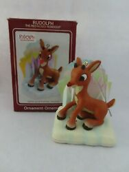 Carlton Heirloom Rudolph The Red Nosed Reindeer Ornament Cxor-124t - Mib