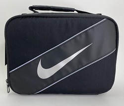 Nike Classic Insulated Storage Lunch Box Bag Black Gray 9A2663 023 Tote School $19.10