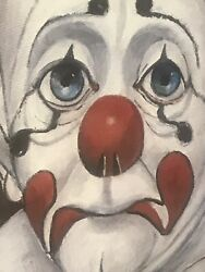 1972 Hand Signed 1947 Red Skelton Lithograph Print On Canvas Sad Face Clown