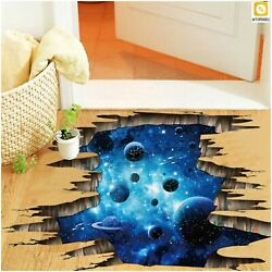 Wall Stickers For Kids Rooms 3D Cosmic Space Galaxy Home Decor Roof Decal Mural