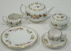 Discontinued Wedgwood Mirabelle 8 Piece Mini / Miniature Tea Set For One Mint