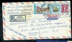 Bahamas Cover Pp0806b 1979 Qeii 40c Boat, Stamp +21c Reg A/m Cover To Usa