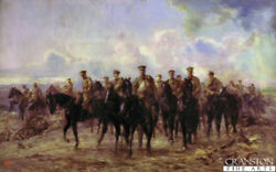 Ww1 Military Art Print Retreat From Mons By Lady Elizabeth Butler.royal Horse Gd