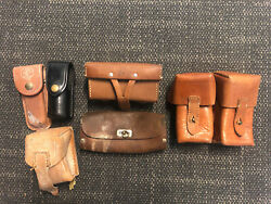 Lot Of 6 Leather Pouches Military Cosplay Tool Steam Punk Costume Various