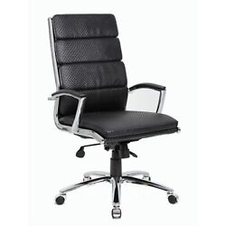 Boss Executive Vinyl Chair With Metal Chrome Finish