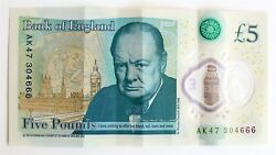 Andpound5 Ak47 666 2 Rare Numbers In One Note Five Pound Collectable Bank Of England