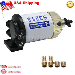 S3213 Boat Fuel Water Separator Marine For Mercury Yamaha Outboard 10 Micron