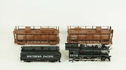 Division Point O Southern Pacific T1 4-6-0 Steam Engine Fire Train And Water Cars