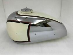 Panther M100 600cc Gas Fuel Petrol Tank Cream Ivory Painted And Chrome 1947-1953