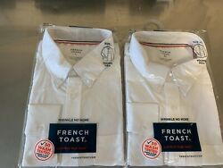 Wholesale Qty 84 French Toast School Uniform White Long Sleeve Oxford Size 20