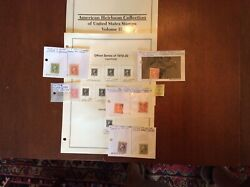 Us Stamps 1918-20 Imperforate Offset Printing See Description Below